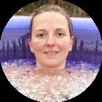 Sonja im Eiswasser